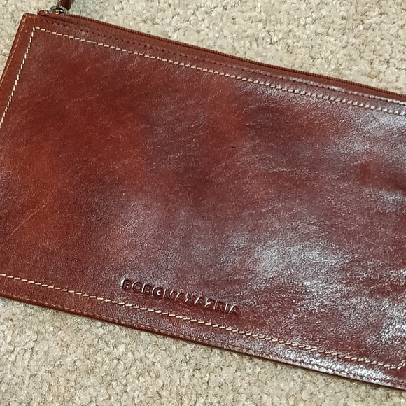 BCBGMaxAzria Handbags - * BCBGMaxAzria Clutch Brown Leather